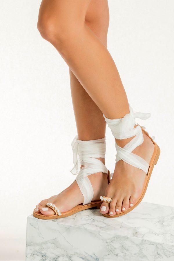 Flat Shoes Bridal White
