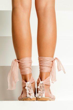 Boho Flat Wedding Sandals