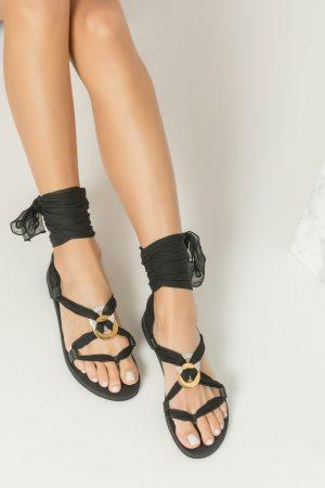 Women's Black Sandals Boho