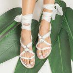 Flat Wedding White Sandals