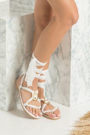 Σανδάλια για νύφη λευκά