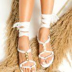 White Sandals for Bride