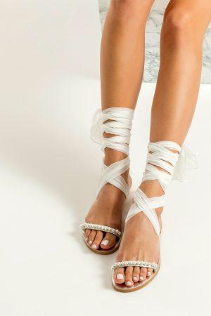 Bridal White Flats