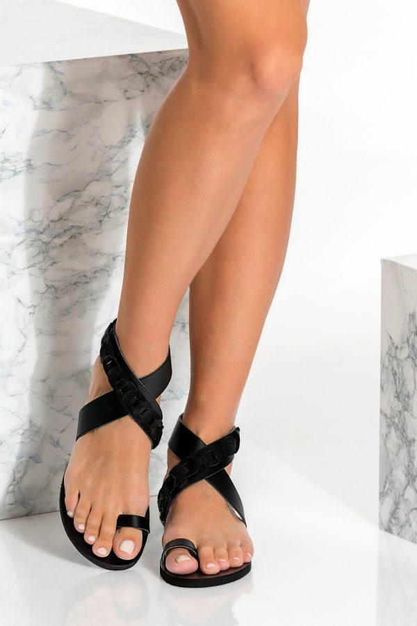 Black Summer Shoes Flat