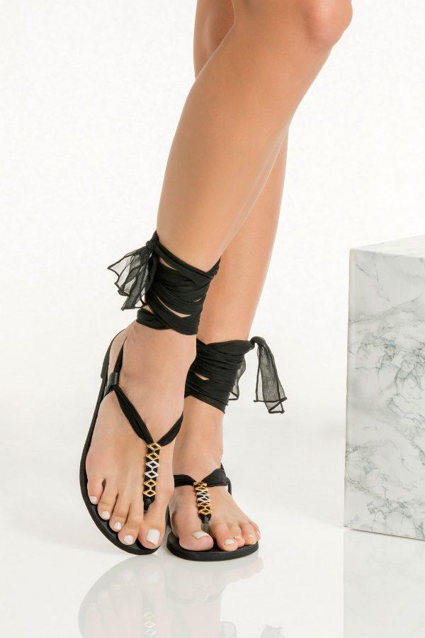 Black Dressy Summer Sandal