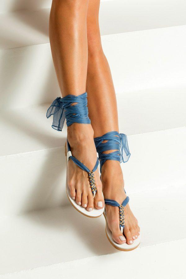 Something Blue Wedding Sandals