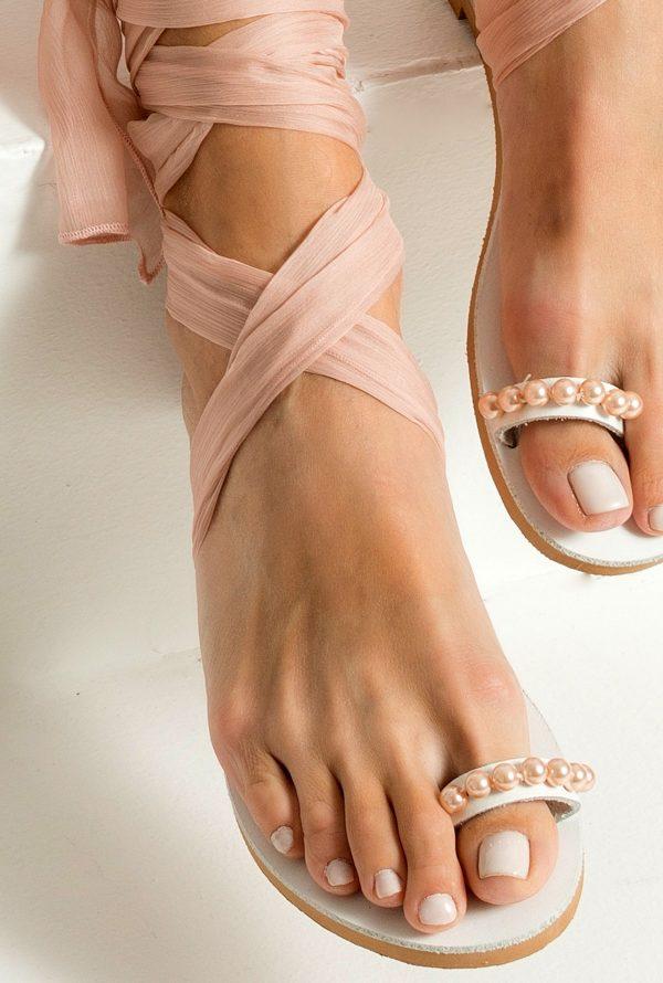 nude bridal sandals