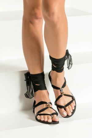 Women ankle wrap sandals
