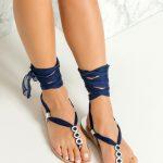 Νυφικά σανδάλια lace up