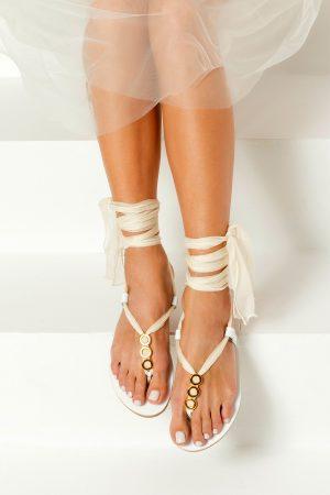 Handmade Sandals for Bride