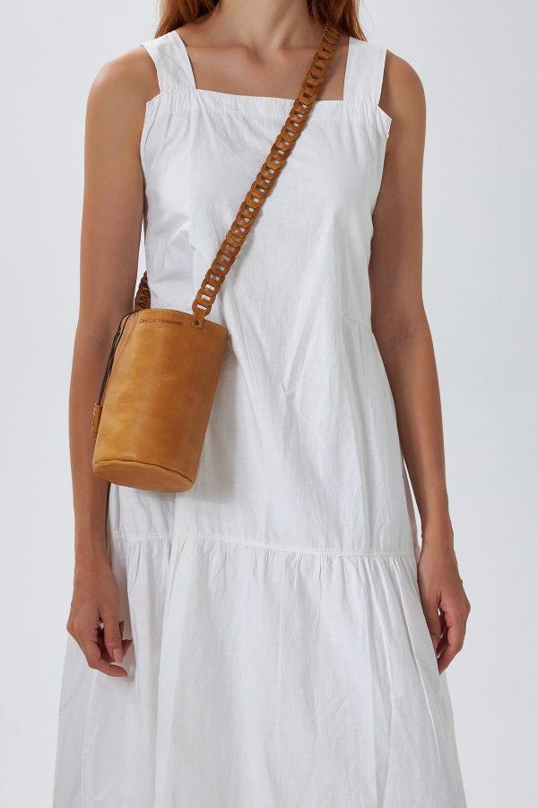 Small Brown Bucket Bag