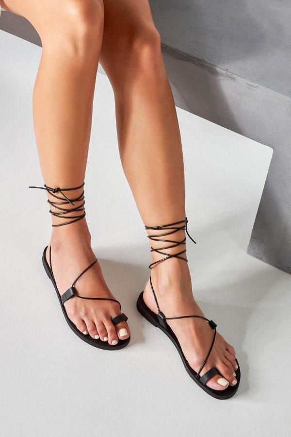 Greek Sandals Black