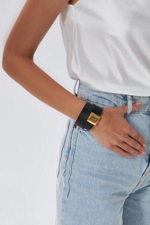 Black Bracelets Leather