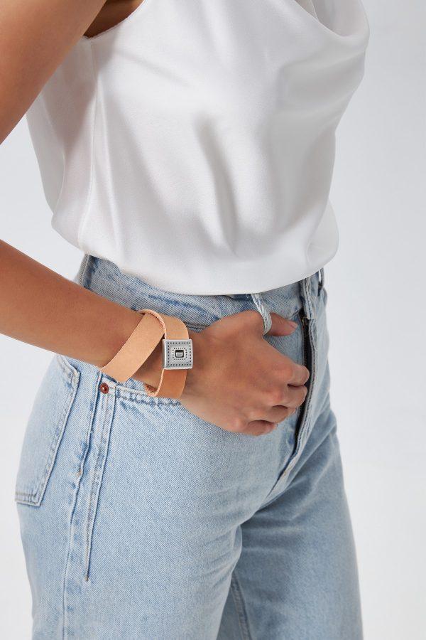 Tan Leather Wrap Bracelet