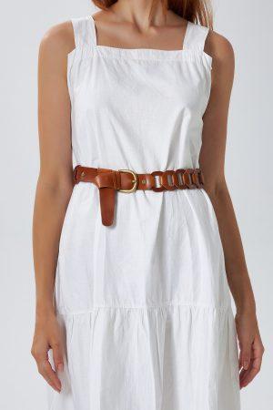 Handwoven Brown Belt