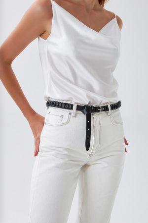 Women's Black Leather Belt