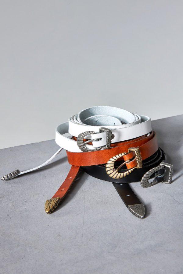 Boho Leather Belts Women