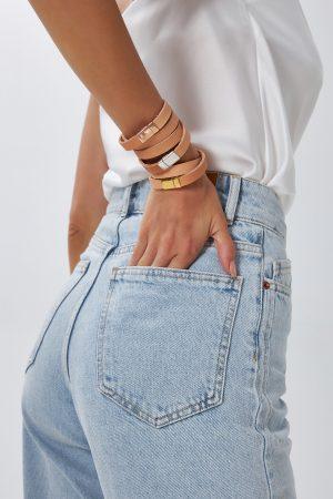Leather Bracelets Set