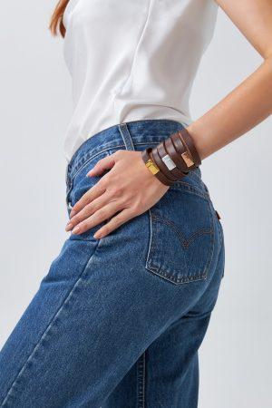 Brown Leather Bracelets Women