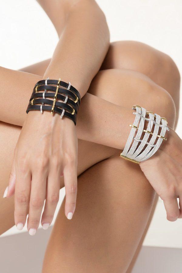 Wide Leather Bracelet