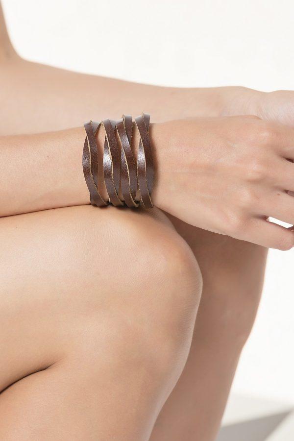 Γυναικείο βραχιόλι από δέρμα