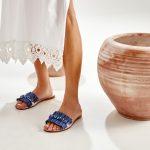 Leather Sandals Raffia