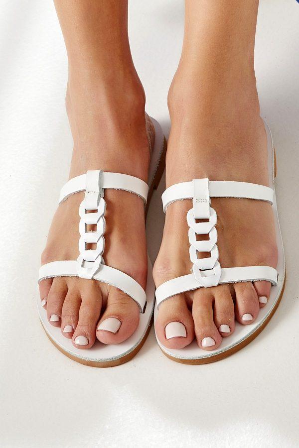 Slide Sandals White