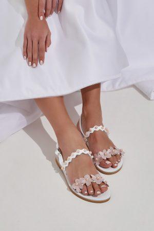 nude bridal flat sandals