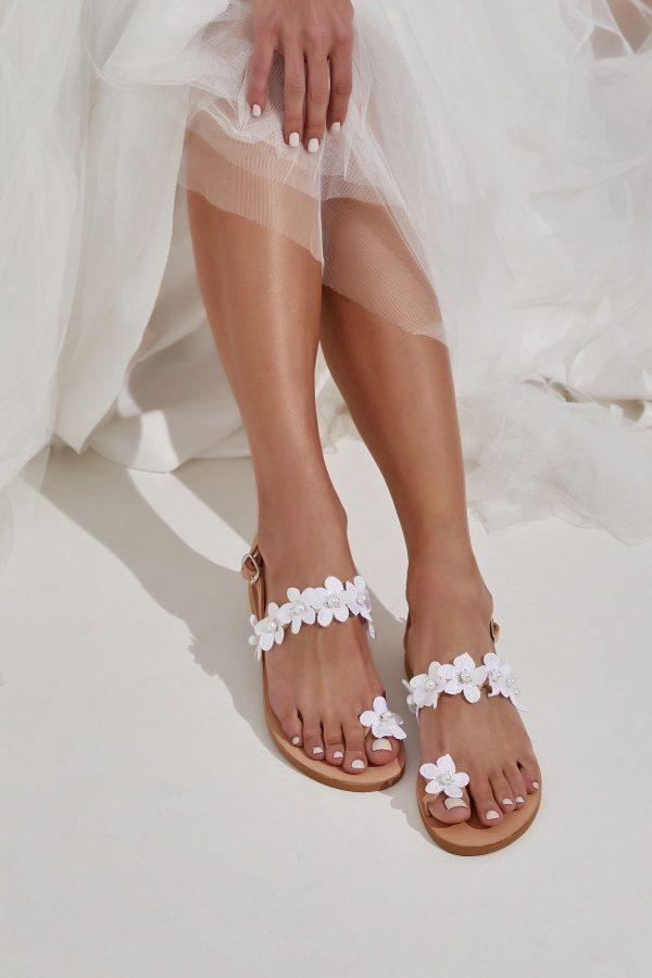 Φλατ σανδάλια για νύφη