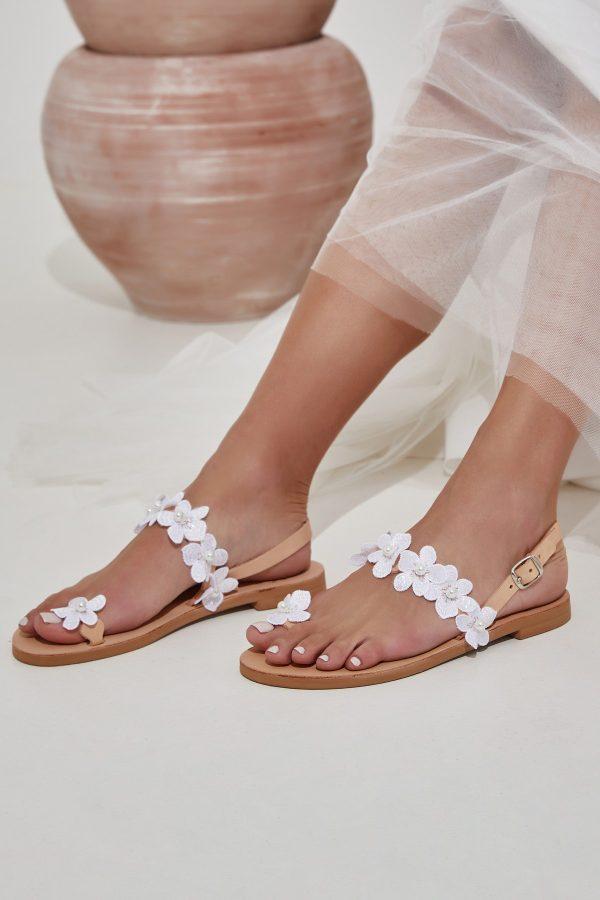 Νυφικά σανδάλια λευκά