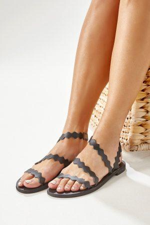 black greek sandals