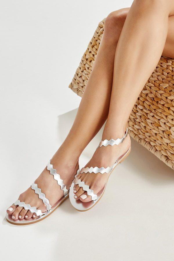 Open Toe Flat Shoes