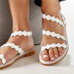 Strappy Sandals White