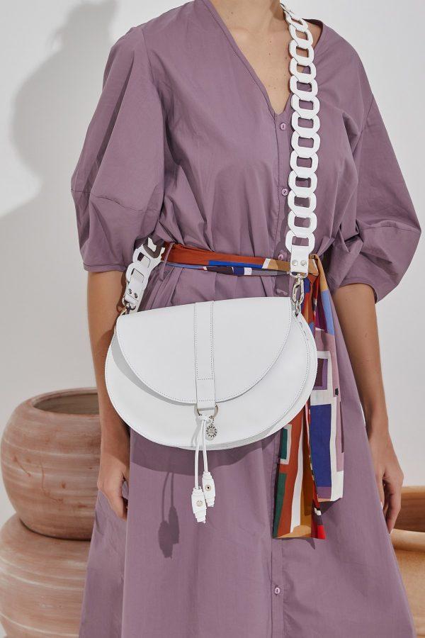 Λευκή τσάντα ώμου