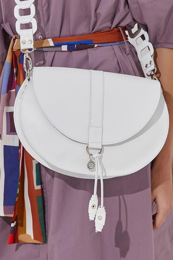 Τσάντα χιαστί λευκή