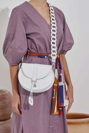 Leather Bag White Women