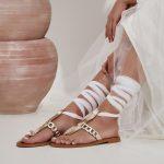 Bridal Lace up Sandals