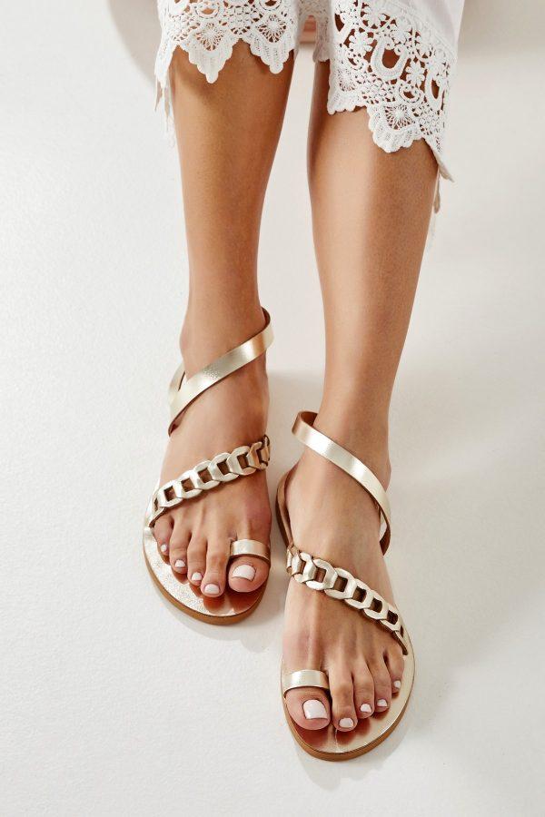 Χρυσά σανδάλια toe ring