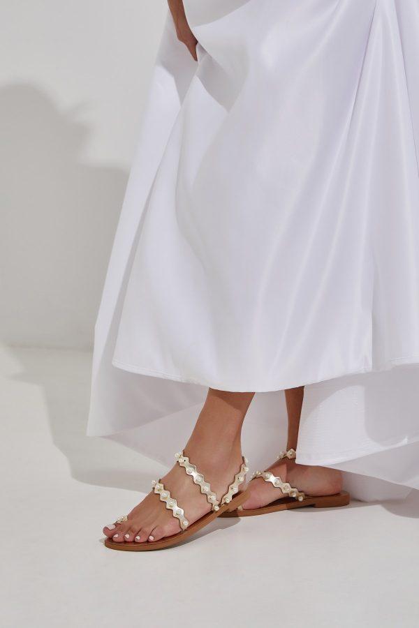 Wedding Sandals Shoes Gold
