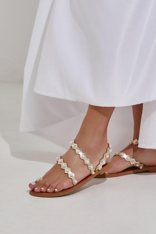 Gold Sandals Bridal