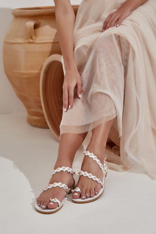 Σανδάλια με πέρλες για γάμο