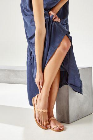 Flat Sandals Women Leather