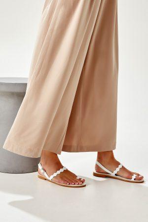 Greek Chic Sandals White