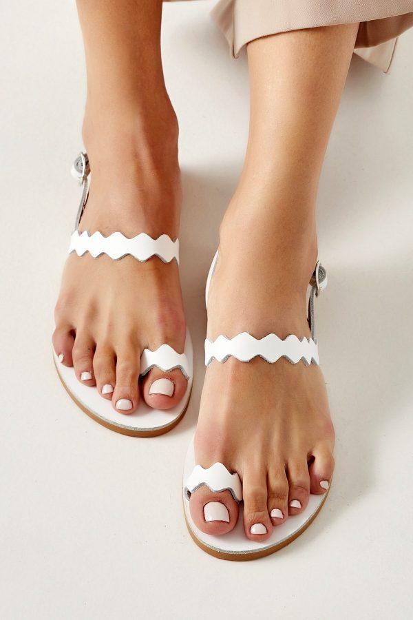 Ancient Greek Sandals White