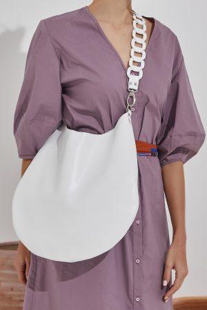 White Leather Women's Bag