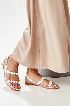 Handmade Sandals White
