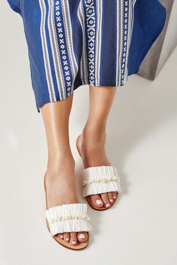 White Handmade Sandals