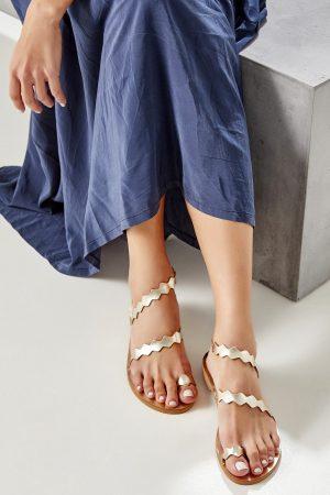 Ancient Greek Sandals Gold