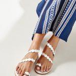 White Greek Leather Sandals