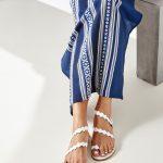 White Ancient Greek Sandals